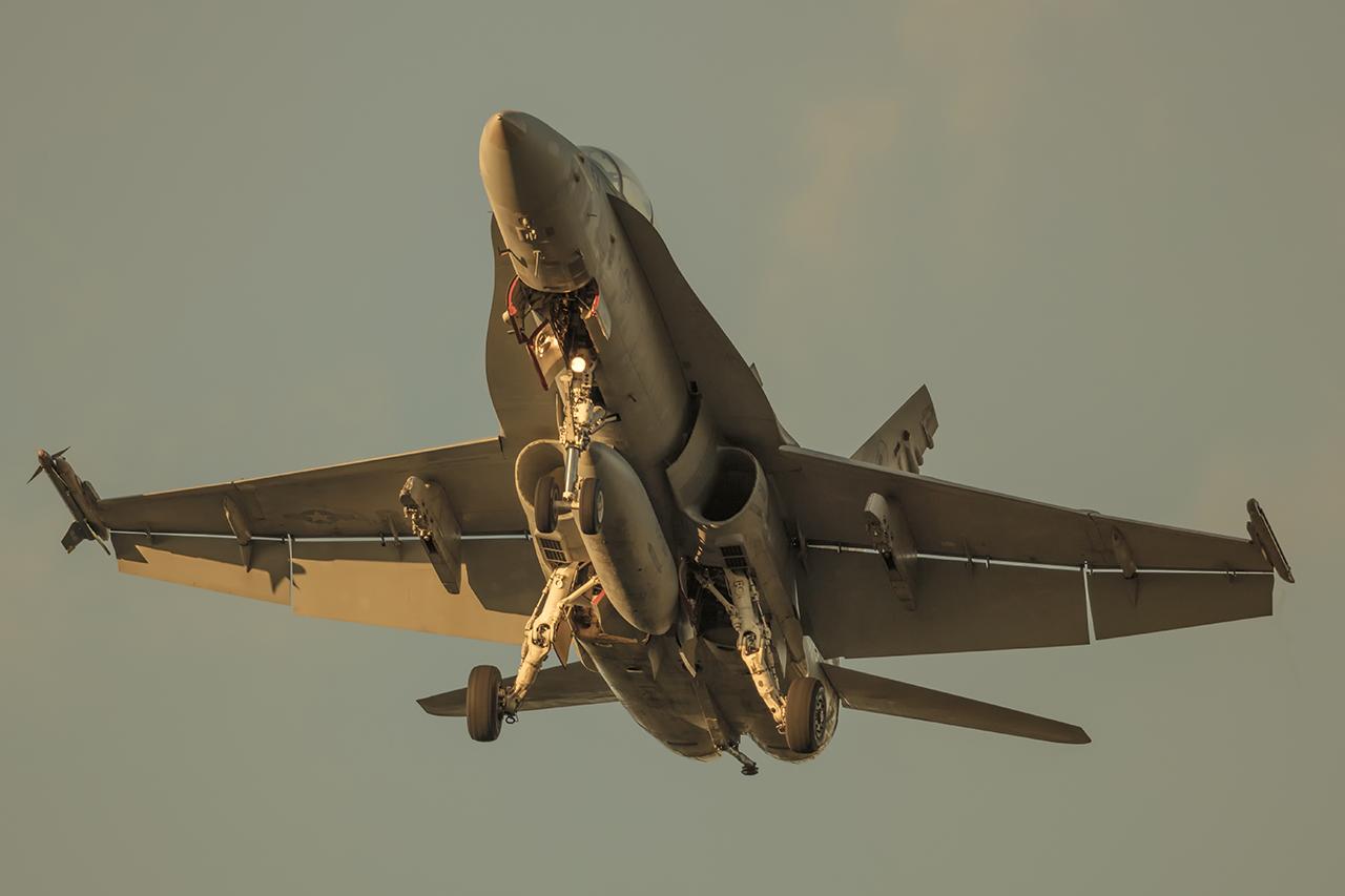 IMAGE: http://markfingar.com/photogallery/Aircraft/Proms_2017/f18Sunset-1.jpg