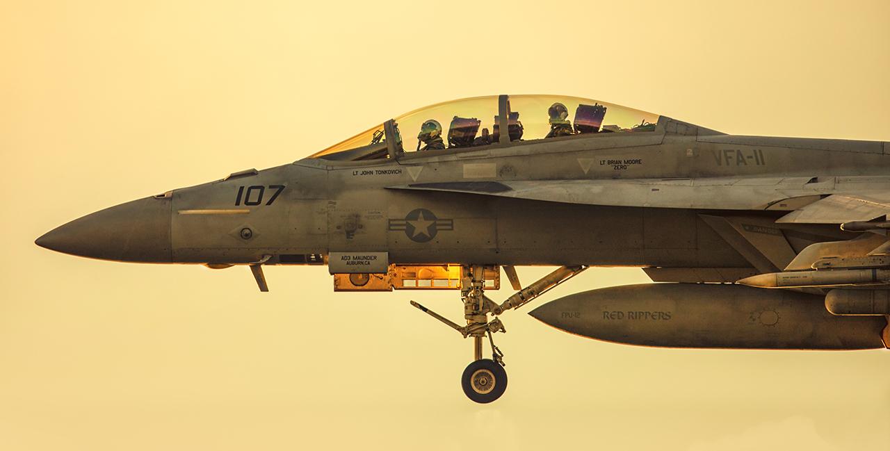 IMAGE: http://markfingar.com/photogallery/Aircraft/Proms_2017/f18Sunset-2.jpg